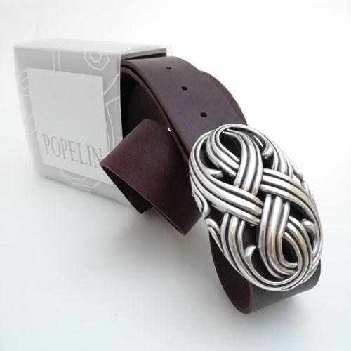 Cinturó de cuir natural amb sivella Infinit. Popelin Barcelona.