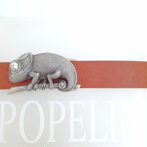 Cinturó amb sivella Camaleó Cuir 100%. Popelin Barcelona