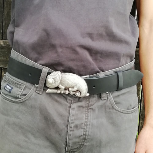 Cinturó amb sivella Camaleó per a home Popelin Barcelona
