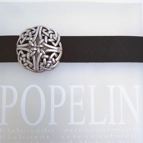 Cinturó de cuir amb sivella Celtic. Home i dona. Popelin Barcelona