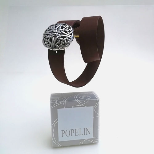 Cinturó de cuir amb sivella Celtic. Regal original. Popelin Barcelona