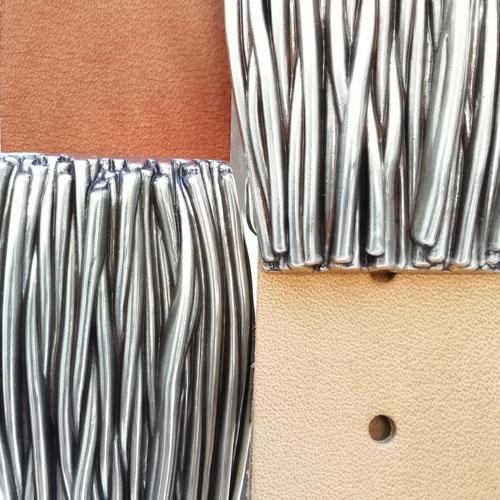 Cinturó de cuir natural amb sivella Natura. Disseny original. Popelin Barcelona