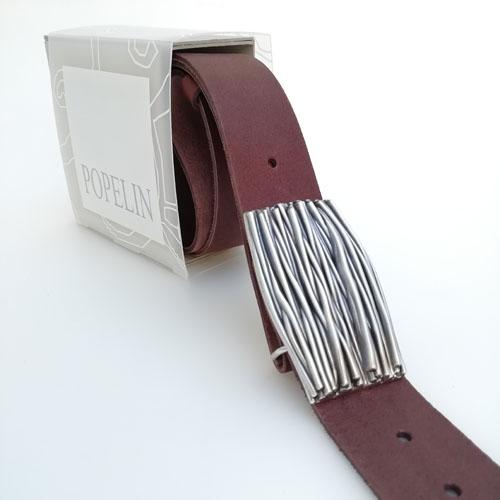 Cinturó de cuir natural amb sivella Natura amb capsa per regal. Popelin Barcelona