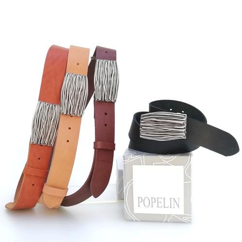 Cinturó de cuir natural amb sivella Natura. Per a home i dona. Popelin Barcelona