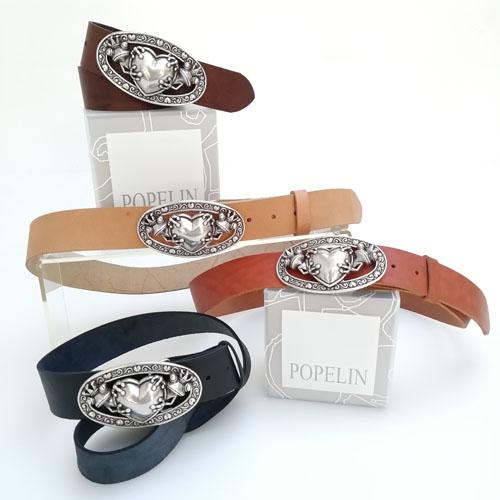 Cinturó de cuir amb sivella metàl·lica. Regal ideal. Popelin Barcelona