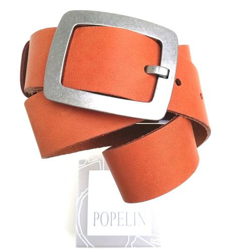 Cinturó de pell amb sivella metàl·lica City. Regal ideal. Popelin Barcelona
