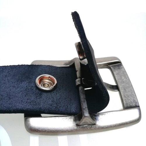 Cinturon cuero hebilla metalica City diseno original moderno Popelin Barcelona