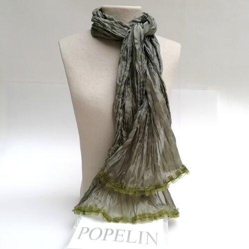 Fular artesano seda natural Popelin Barcelona