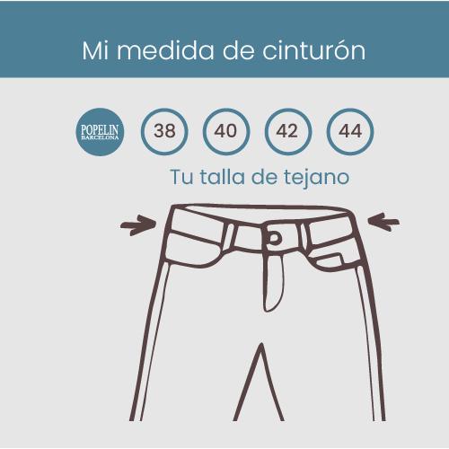 Medidas para el cinturón según talla de tejanos