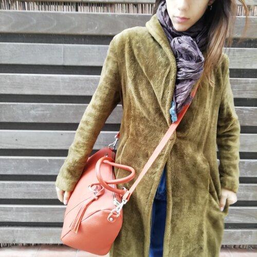 bolso cuero grande practico bonito popelin barcelona