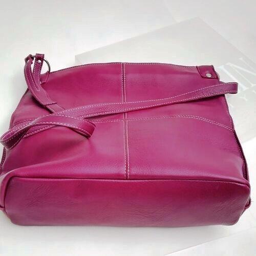 bossa cuir gran morat bandolera popelin barcelona disseny