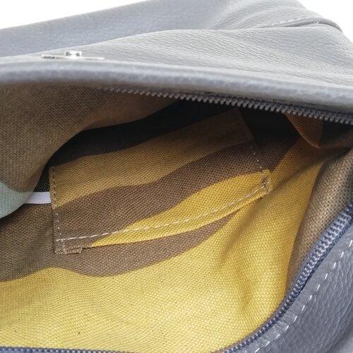 bossa de cuir elegant bonic practic gris popelin barcelona