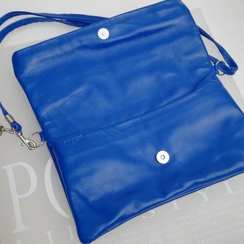 bossa de ma cuir petita blava shop online popelin barcelona