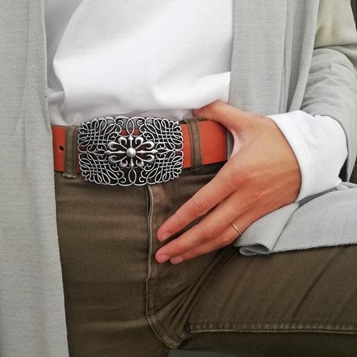 cinturó de cuir per a regal original. Popelin Barcelona