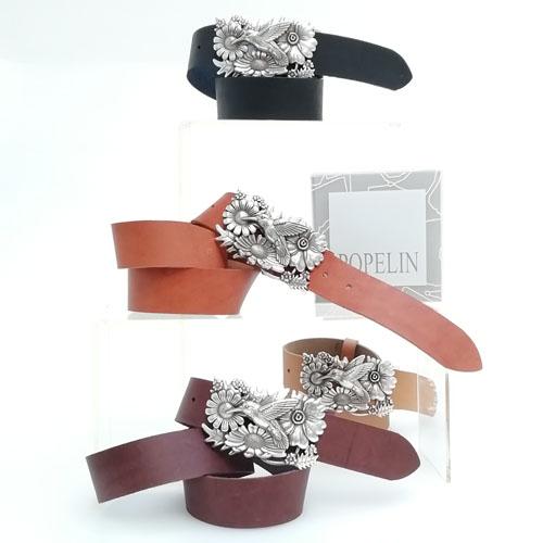 cinturó de cuir amb sivella Colibrí. Regal original. Popelin Barcelona