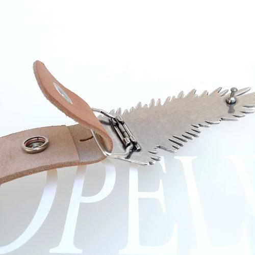 cinturó de cuir amb sivella. Falguera. Disseny original. Popelin Barcelona
