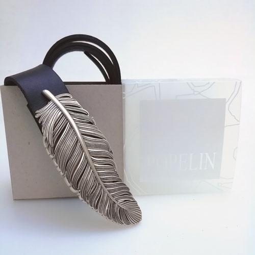 cinturó de cuir amb sivella Ploma i capsa de regal. Popelin Barcelona