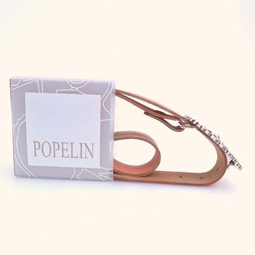 cinturó de cuir amb sivella metàl·lica. Forja. Regal ideal. Popelin Barcelona