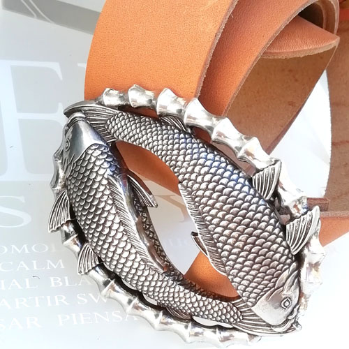 cinturo cuir sivella metall Popelin barcelona