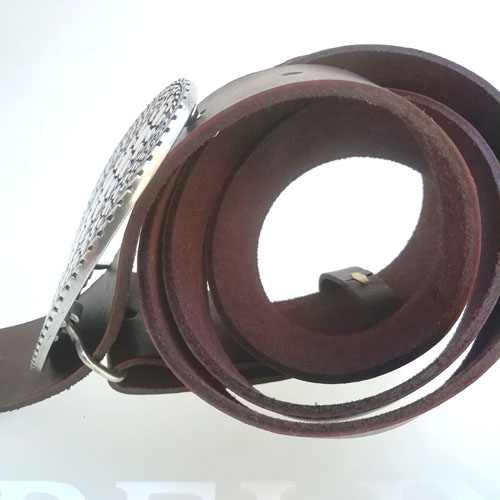 cinturo cuir sivella metall fet a Catalunya Popelin Barcelona