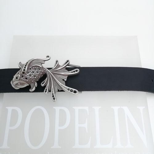 cinturó de pell i sivella Aqua amb bany de plata i cristalls Swarovsky. Regal ideal. Popelin Barcelona