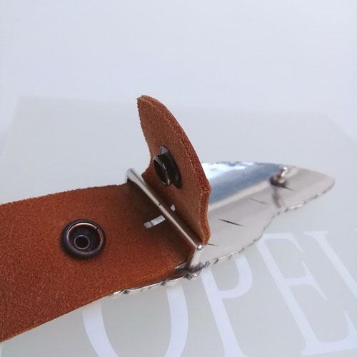 cinturó amb sivella Ploma amb bany de plata. Popelin Barcelona