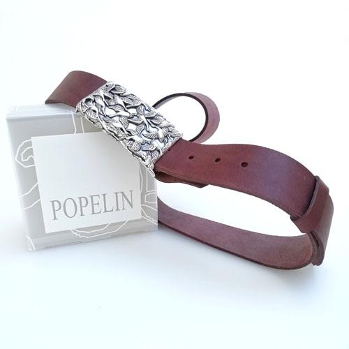 cinturon cuero artesano mujer Popelin Barcelona