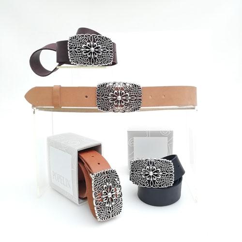 cinturon cuero hebilla metal regalo ideal Popelin Barcelona