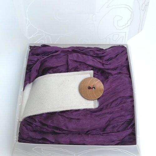 fular seda diseno caja regalo popelin barcelona