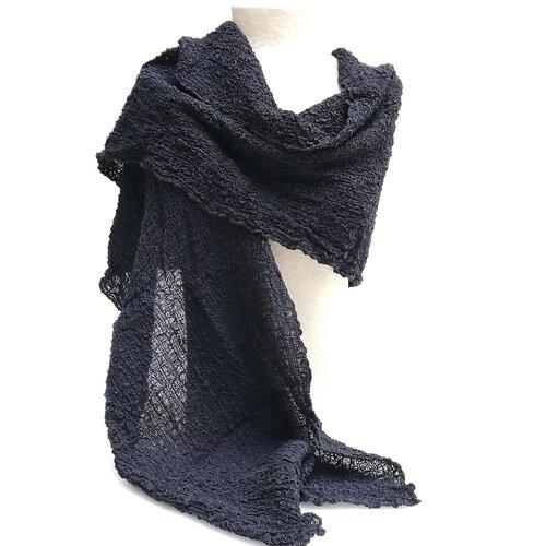 fular seda especial negro popelin barcelona tienda online