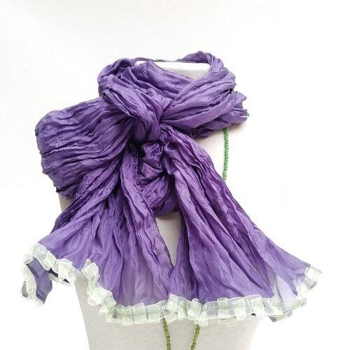 fular seda morado moda mujer popelin barcelona