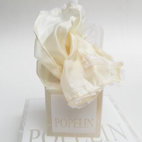 fular seda natural beig regalo mujer popelin barcelona