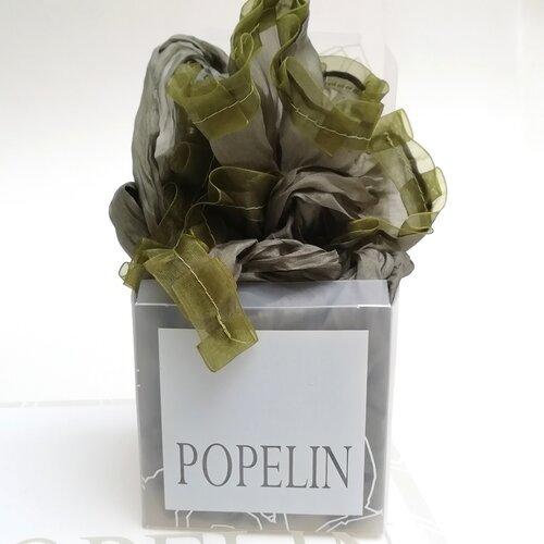 fular seda verde regalo mujer popelin barcelona artesano espana