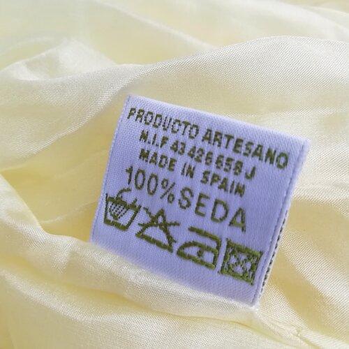 fulard seda disseny color beig popelin barcelona