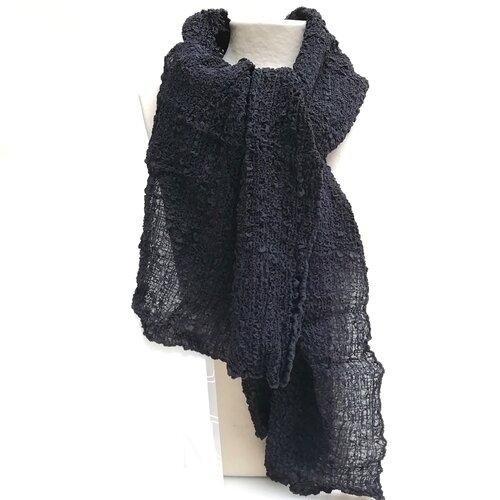 fulard seda natural elastic negre popelin barcelona disseny