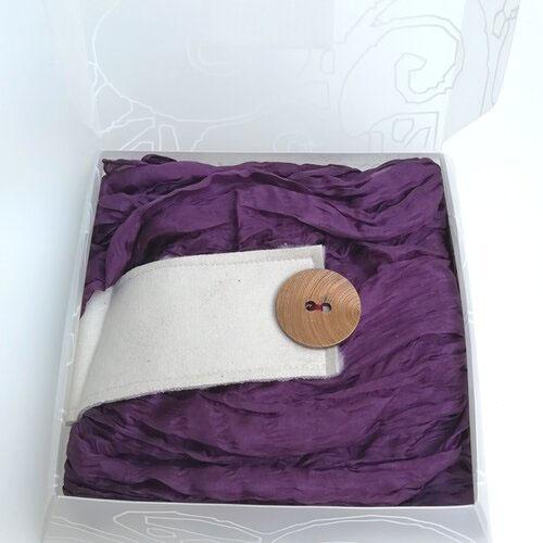 fulard seda natural seda disseny color morat popelin barcelona