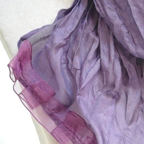 mocador seda disseny original regal boda color morat popelin barcelona