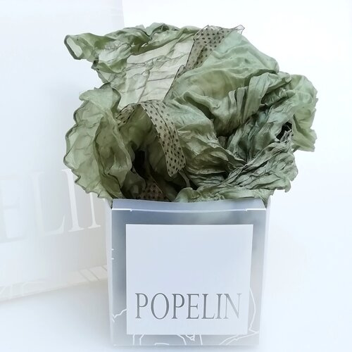 mocador seda dona verd popelin barcelona online