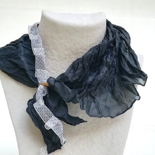 mocador seda negre dona modern popelin barcelona online