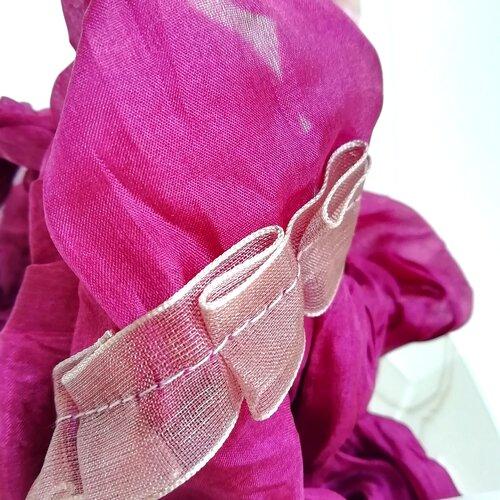 mocador seda rosa disseny catala popelin barcelona