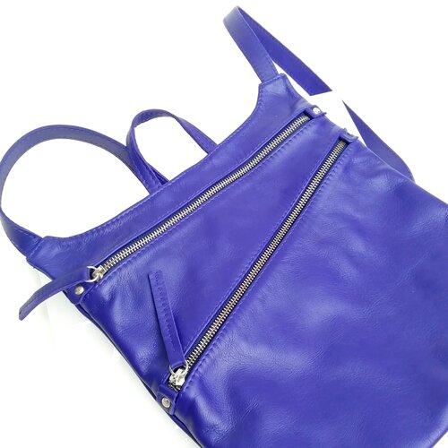 mochila cuero diseno azul tienda online popelin barcelona