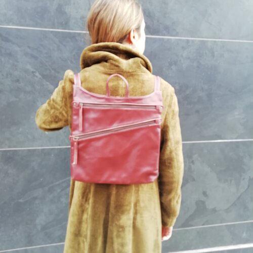 motxilla cuir disseny original botiga online popelin barcelona
