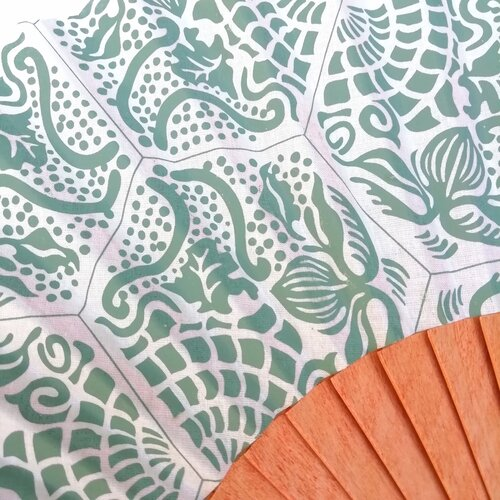 Abanico baldosa gaudi mosaico modernismo Popelin Barcelona