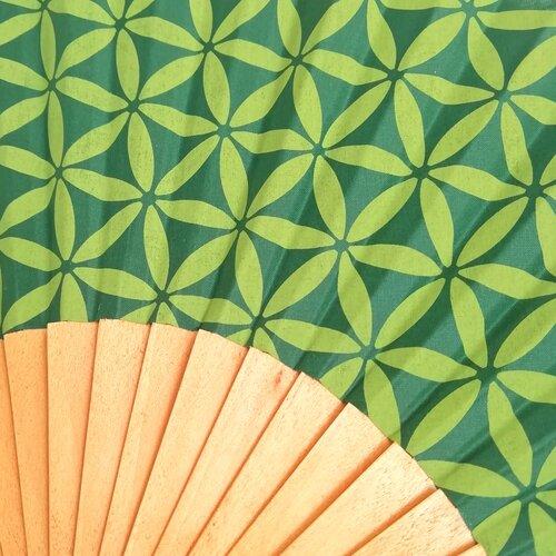 abanico estampado flor vida Geometria sagrada Popelin Barcelona