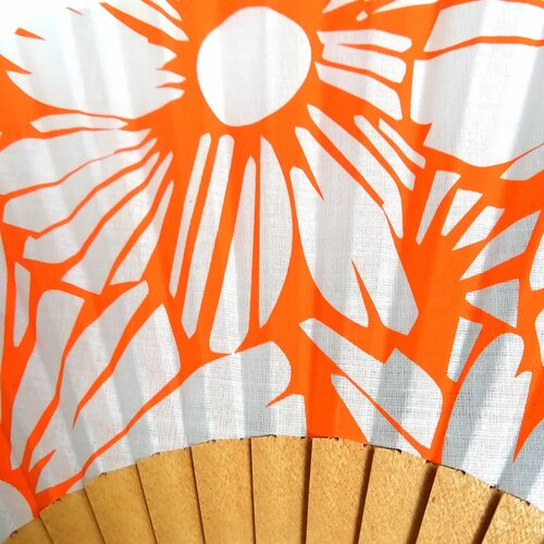 abanico estampado flores naranja regalo perfecto popelin barcelona