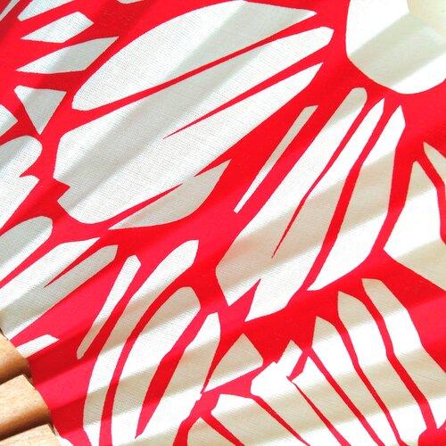 abanico estampado flores rojo moderno popelin barcelona