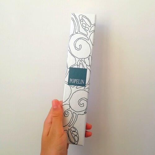 abanico hand fan ventaglio eventail ventall box capsa caja popelin barcelona