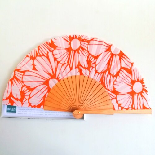 abanico ideal naranja flores modernas popelin barcelona