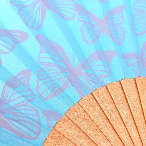 abanico mariposas estampado original especial artesano popelin barcelona