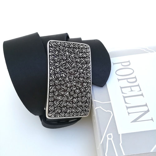 cinturo cuir negre sivella Roses modernista Popelin Barcelona